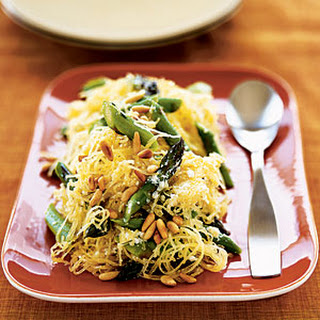 Creamy Spaghetti Squash with Asparagus and Rosemary