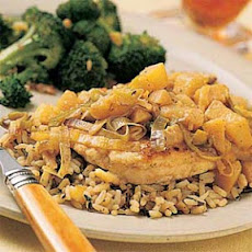 Parmesan-Crusted Chicken with Leeks and Apples