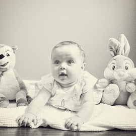 best buds by Mary Withers Lawton - Babies & Children Babies ( babies, black and white, toys )