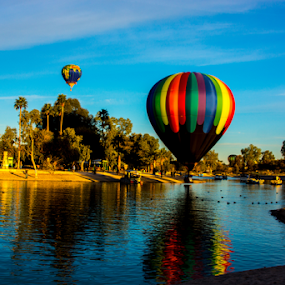 Touch Down by Tina Hailey - News & Events Entertainment ( lake havasu az balloon fest reflection river water,  )