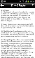 Screenshot of 101 Islamic Facts