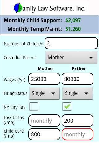 NY Child Support Calculator