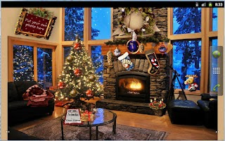 Screenshot of Christmas Fireplace LWP Full