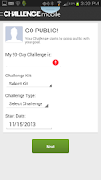 Screenshot of Challenge Mobile