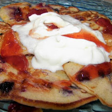 Summertime Fruit Pancakes With Fresh Cream