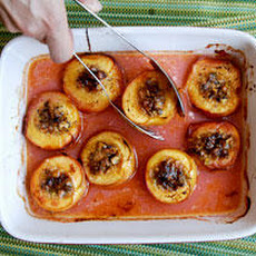 Nectarines Baked with Pistachios and Fresh Ginger Recipe