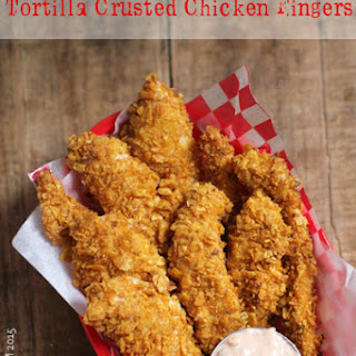 Tortilla Crusted Chicken Fingers