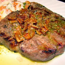 Grilled Strip Loin Steak With Bacon Chimichurri