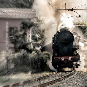 Back to the future by Ivan Bertusi - Transportation Trains ( locomotives, railway, station, train, trains, steam,  )