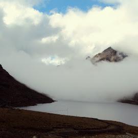 Nature plays.... by Pratik Banerjee - Landscapes Mountains & Hills ( clouds, hills, mountain, nature, lake, landscape )