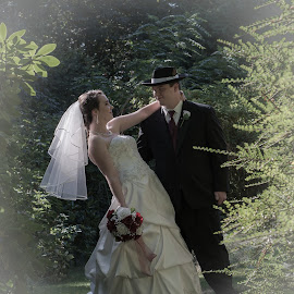 by Larry Rogers - Wedding Bride & Groom