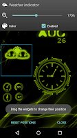 Screenshot of Neon Clock GL Live wallpaper
