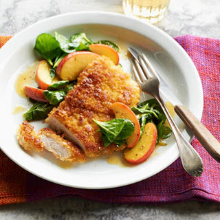 Pork Chops, Apples & Greens