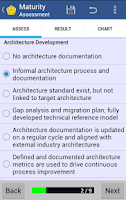 Screenshot of Architecture Maturity