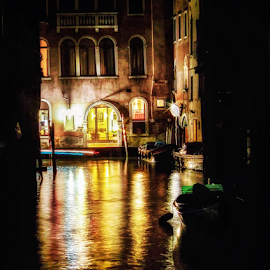 Night in Venice by Andrea Conti - City,  Street & Park  Historic Districts