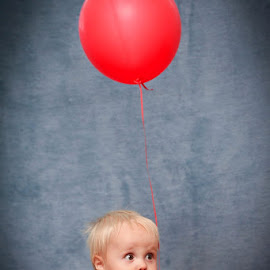 The boy with the red balloon by Pierre Vee - Babies & Children Children Candids ( red, balloon, boy, kid )