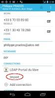 Screenshot of Contacts LDAP