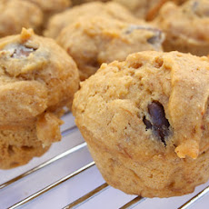 Peanut Butter Chocolate Chip Banana Mini Muffins