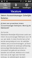 Screenshot of Rabo Vacatures