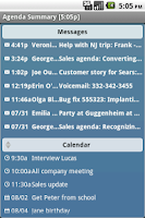 Screenshot of Agenda Messenger