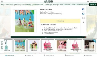 Screenshot of Jo-Ann Inspire for Tablets