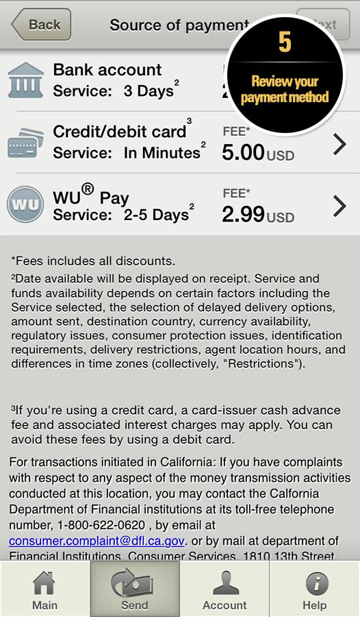 Western Union Money Transfer Screenshot 4