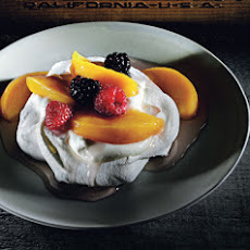 Gingered-Peach Pavlovas