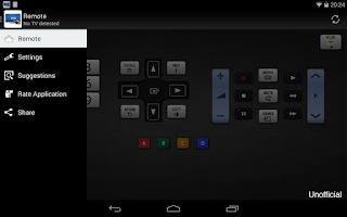 Screenshot of Sam Remote TV