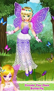Butterfly Fairy Girls Dress Up - screenshot