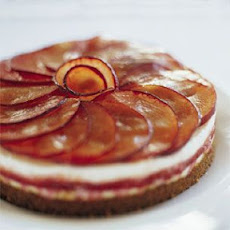 Plum and Goat Cheese Terrine with Gingersnap Crust