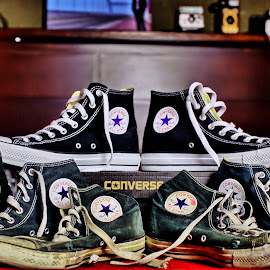Verses by Abraham Elizondo - Artistic Objects Clothing & Accessories ( shoes, all star, old, new, fashion, style, pair, converse, sneakers, chuck taylor, kicks )