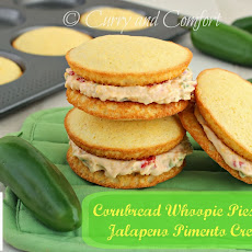 Cornbread Whoopie Pies with Jalapeno Pimento Cheese