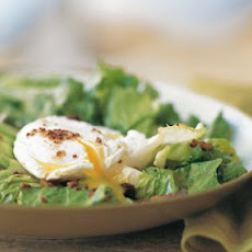 Warm Escarole, Egg and Bacon Salad