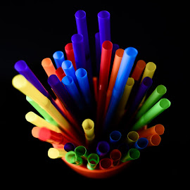 Straws by Bibhu Kalyan Das - Artistic Objects Cups, Plates & Utensils ( abstract, straw, colors, table top, straws )