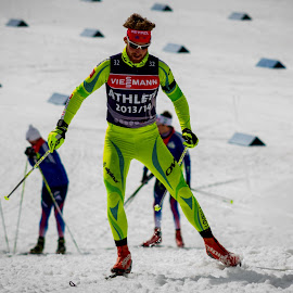 Klemen Bauer (SLO) by Urban Meglič - Sports & Fitness Snow Sports ( cup, world cup, sport, nice, biathlon, fun, sun, training, winter, slovenija, slovenia, sunny day, world )