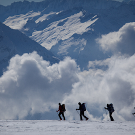 Skitouring in the Swiss Alps by Frank Tschöpe - Landscapes Cloud Formations