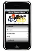 Screenshot of FIFO App Work Roster