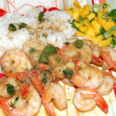 Spicy Coconut Shrimp, Spicy Mango Basil Salsa, Lime Jasmine Rice