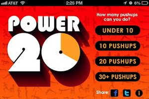 Screenshot of Power 20 - 20 Minute Workouts