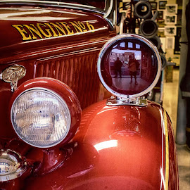 Yep...  That's my reflection in the siren light ツ by Scott Giorgini - Artistic Objects Antiques