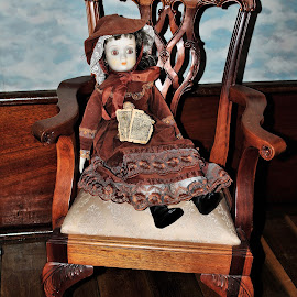 Child's Chair and Doll by Karen Hardman - Artistic Objects Toys