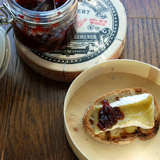 Camembert and Cranberry Compote Toasts