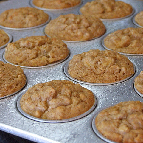Quick and Easy Banana- Oat Muffins