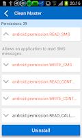 Screenshot of Permission Check Plugin