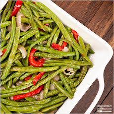 Garlic-Roasted Green Beans with Shallots and Almonds Recipe | Yummly