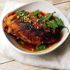 Chicken with Saffron and Dukkah