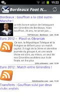 Screenshot of Bordeaux Foot News