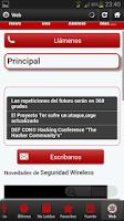 Screenshot of Seguridad wireless