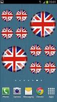 Screenshot of British Flag Badge Widget