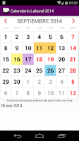 Screenshot of Calendario 2015 Chile